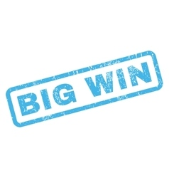 Big win rubber stamp vector