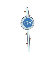 The sign post vector