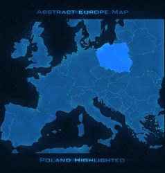 Europe abstract map poland vector