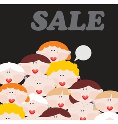 Women and sale vector