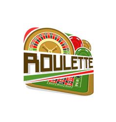 Logo for roulette gamble vector