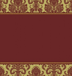 Christmas damask pattern vector image