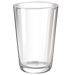 A drinking glass vector