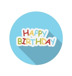 Flat design concept happy birthday with long vector