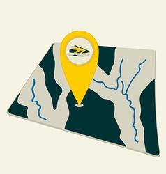 Map traveler vector