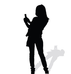 Woman art silhouete vector