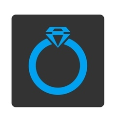 Diamond ring icon from commerce buttons overcolor vector