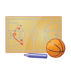 Basketball play board vector