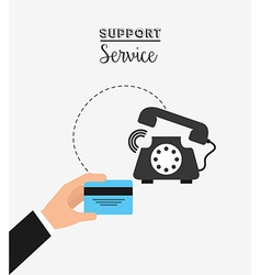 Support service design vector