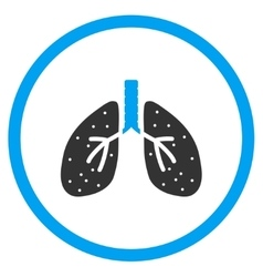 Respiratory system icon vector
