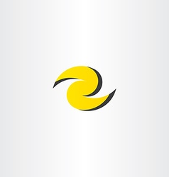 Z letter yellow logo z icon element vector