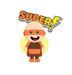Flat style superhero character avatar on ribbon vector image