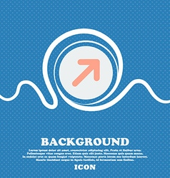 Arrow expand full screen scale sign icon blue and vector