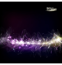 Abstract sparkle line vector image vector image