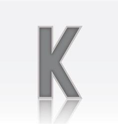 Alphabet K vector image