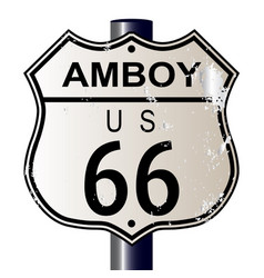 Amboy route 66 sign vector