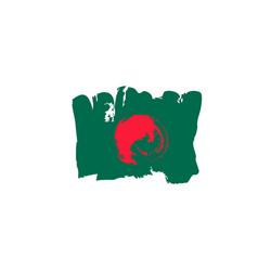 bangladesh flag painted by hand bangladeshi art vector image vector image