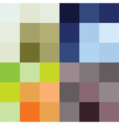 Checkered pattern four color options vector image vector image