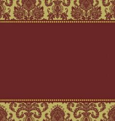 Christmas damask pattern vector image vector image