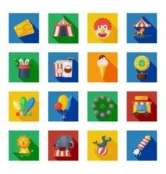 Circus icons flat vector