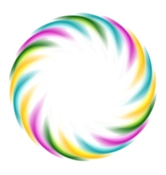 Colorful iridescent round logo on white background vector image vector image