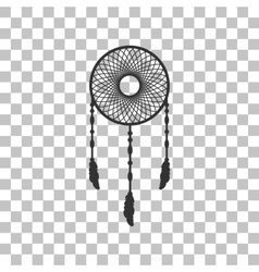 Dream catcher sign Dark gray icon on transparent vector image vector image