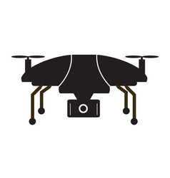 Drone icon flat design style drone on white vector