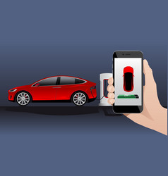 Electric car charging point vector