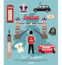 England travel background with place for text Set vector image vector image