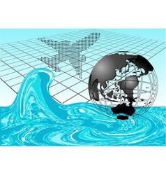 flight to the sea vector image vector image