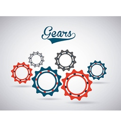 gears world design vector image vector image