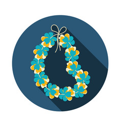 hawaii flowers necklace wreath icon vacation vector image vector image