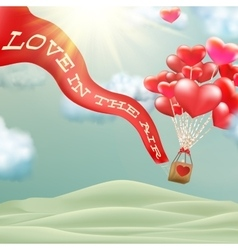 Hot air balloon EPS 10 vector image