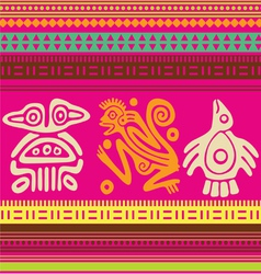 ornamental african style motive 03 vector image