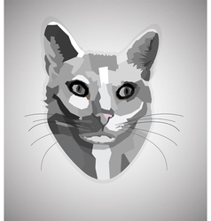 Pop art grayscale cat vector