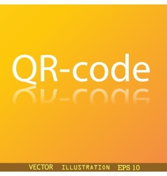Qr code icon symbol flat modern web design with vector