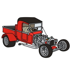 Red hot rod vector image