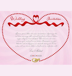 ribbon wedding r4 vector image