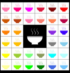 soup sign felt-pen 33 colorful icons at vector image vector image