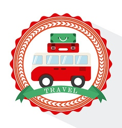 van travel vector image