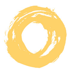 yellow brushstroke circle form vector image vector image