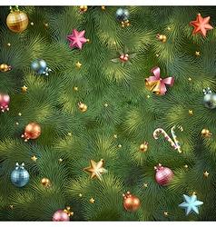 xmas tree vintage texture vector image