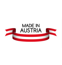 Colored ribbon with the austrian colors vector