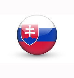 Round icon with national flag of slovakia vector