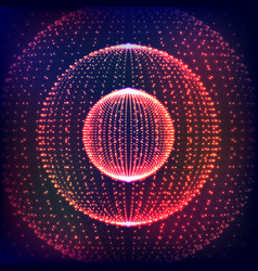 abstract distorted sphere explosion of vector image