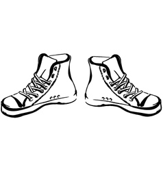 Hand drawn sneakers vector