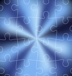 Blue puzzle abstract background vector image