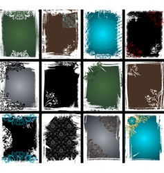 Grunge frame collection vector