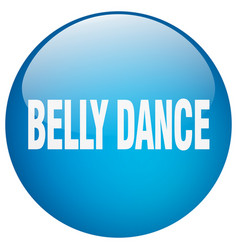 Belly dance blue round gel isolated push button vector