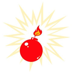 Red bomb vector image